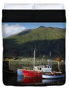 Connemara, Co Galway, Ireland Fishing Duvet Cover by The Irish Image Collection
