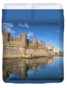 Conwy Castle Duvet Cover by Adrian Evans