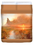 Cotopaxi Duvet Cover by Frederic Edwin Church