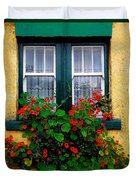 Cottage Window, Co Antrim, Ireland Duvet Cover by The Irish Image Collection