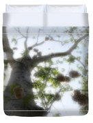 Cotton Ball Tree Duvet Cover by Douglas Barnard