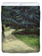 Couple In The Park Duvet Cover by Vincent Van Gogh