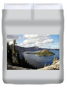 Crater Lake - Intense Blue Waters And Spectacular Views Duvet Cover by Christine Till