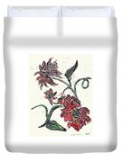 Crayon Flowers Duvet Cover by Sarah Loft