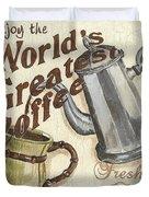 Cream Coffee 1 Duvet Cover by Debbie DeWitt
