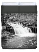 Creek Merge Waterfall In Black And White Duvet Cover by James BO  Insogna