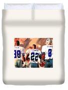 Dallas Cowboys Triplets Duvet Cover by Paul Van Scott