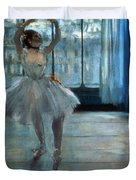 Dancer in Front of a Window Duvet Cover by Edgar Degas
