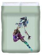 Dancer Watercolor Duvet Cover by Naxart Studio