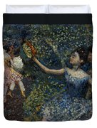 Dancer With A Tambourine Duvet Cover by Edgar Degas