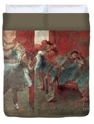 Dancers At Rehearsal Duvet Cover by Edgar Degas