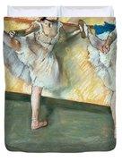 Dancers at the bar Duvet Cover by Edgar Degas