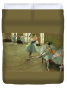 Dancers In The Classroom Duvet Cover by Edgar Degas