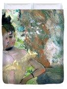 Dancers in the Wings  Duvet Cover by Edgar Degas