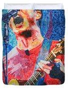 Dave Matthews Squared Duvet Cover by Joshua Morton