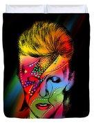 David Bowie Duvet Cover by Mark Ashkenazi