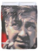 David Lynch Duvet Cover by Luis Ludzska