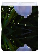 Day Lily Reflection Duvet Cover by Amy Vangsgard