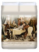 Declaration Committee 1776 Duvet Cover by Photo Researchers