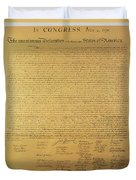 Declaration Of Independence Duvet Cover by American School
