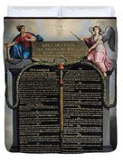 Declaration Of The Rights Of Man And Citizen Duvet Cover by French School