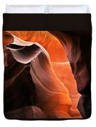 Deep Red Glow Duvet Cover by Mike  Dawson
