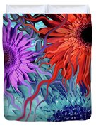 Deep Water Daisy Dance Duvet Cover by Christopher Beikmann