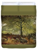 Deer In A Wood Duvet Cover by Joseph Adam