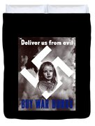Deliver Us From Evil Duvet Cover by War Is Hell Store