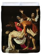 Deposition Duvet Cover by Michelangelo Merisi da Caravaggio