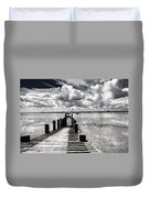 Derelict Wharf Duvet Cover by Avalon Fine Art Photography