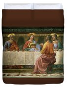 Detail From The Last Supper Duvet Cover by Domenico Ghirlandaio
