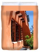 Detail Of A Pueblo Style Architecture In Santa Fe Duvet Cover by Susanne Van Hulst