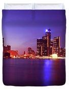 Detroit Skyline 2 Duvet Cover by Gordon Dean II