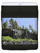 Devil's Postpile - Talk About Natural Wonders Duvet Cover by Christine Till