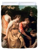 Diana and her Companions Duvet Cover by Jan Vermeer