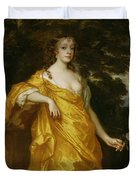 Diana Kirke-later Countess Of Oxford Duvet Cover by Sir Peter Lely