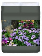 Dianthus Flower Bed Duvet Cover by Corey Ford
