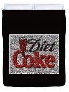 Diet Coke Bottle Cap Mosaic Duvet Cover by Paul Van Scott