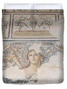 Dionysus Mosaic Mona Lisa of the Galilee Duvet Cover by Ilan Rosen