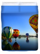Dip And Go Duvet Cover by Mike  Dawson