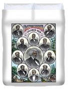 Distinguished Colored Men Duvet Cover by War Is Hell Store