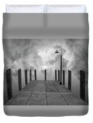 Dock And Clouds Duvet Cover by Dave Gordon