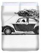 Dog in Car  Duvet Cover by Ulrike Welsch and Photo Researchers