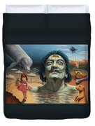 Dolly In Dali-land Duvet Cover by James W Johnson