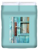 Door Handle Duvet Cover by Carlos Caetano