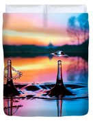 Double liquid art Duvet Cover by William Lee