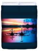 Double Liquid Art Duvet Cover by William Lee