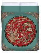Dragon and Phoenix Duvet Cover by Kristin Elmquist
