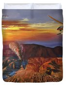 Dragon Dawn Mq1 Predator Duvet Cover by Todd Krasovetz